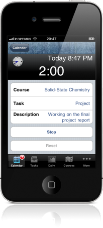 Student Time Tracker on the iPhone